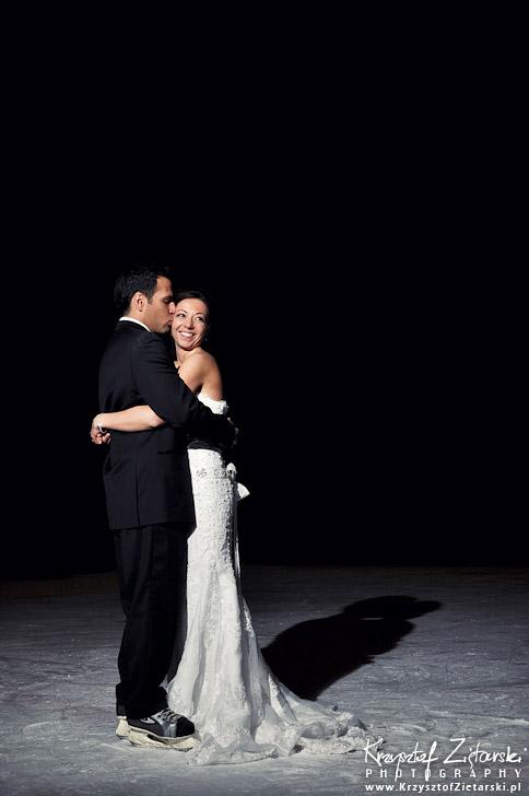Zdjęcia ślubne na lodowisku