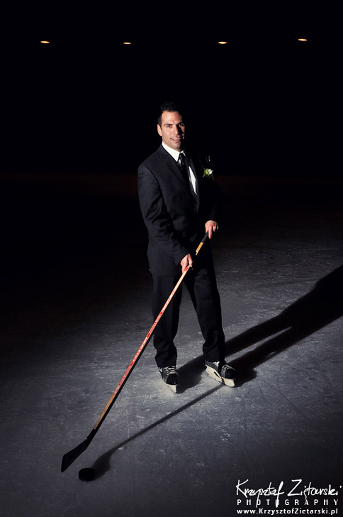 Groom Portrait with hockey stick