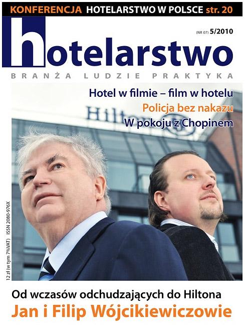 Okładka magazynu Hotelarstwo - Hilton Gdańsk - zdjęcia właścicieli