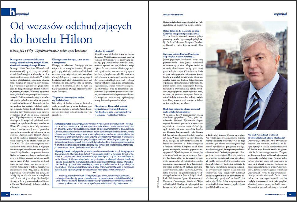 Hilton Gdańsk - Jan Wójcikiewicz - zdjęcie, wywiad