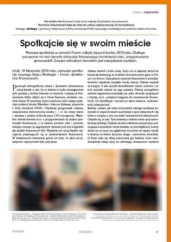 seminarium KPMG Gdańsk - pismo Strategie