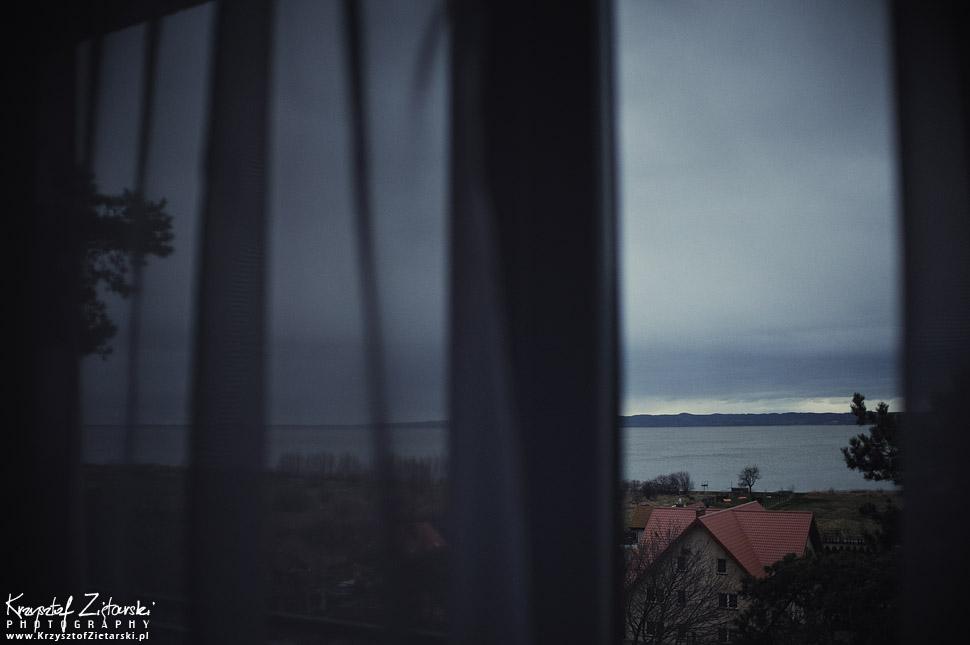 Zalew Wiślany - pochmurna pogoda