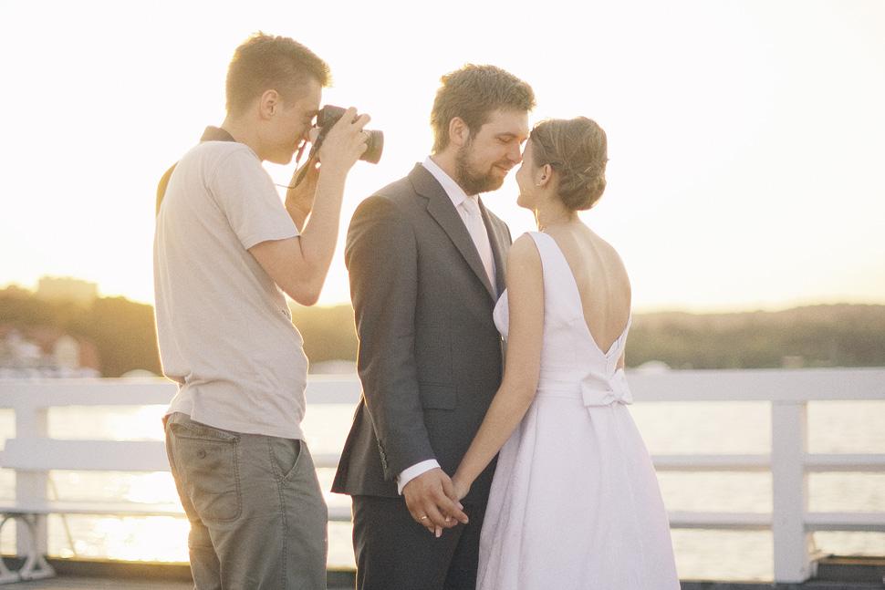 Backstage plener ślubny fotograf