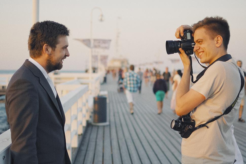 Backstage fotograf ślubny