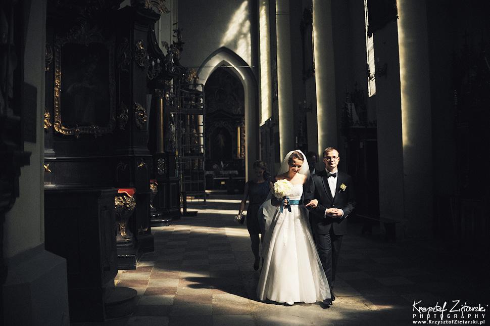 Ślub Kasi i Konrada u Dominikanów w Gdańsku, wesele w Hotelu Quubus, plener w Orłowie