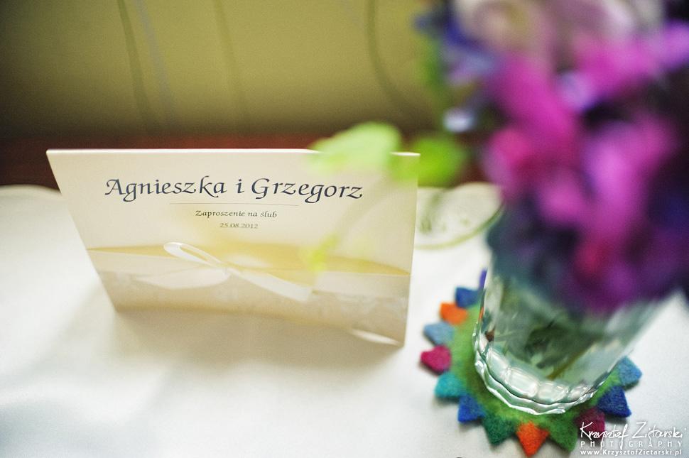 Ślub Agnieszki i Grzegorza - fotografia ślubna Gdańsk, Hotel Otomin - 3.