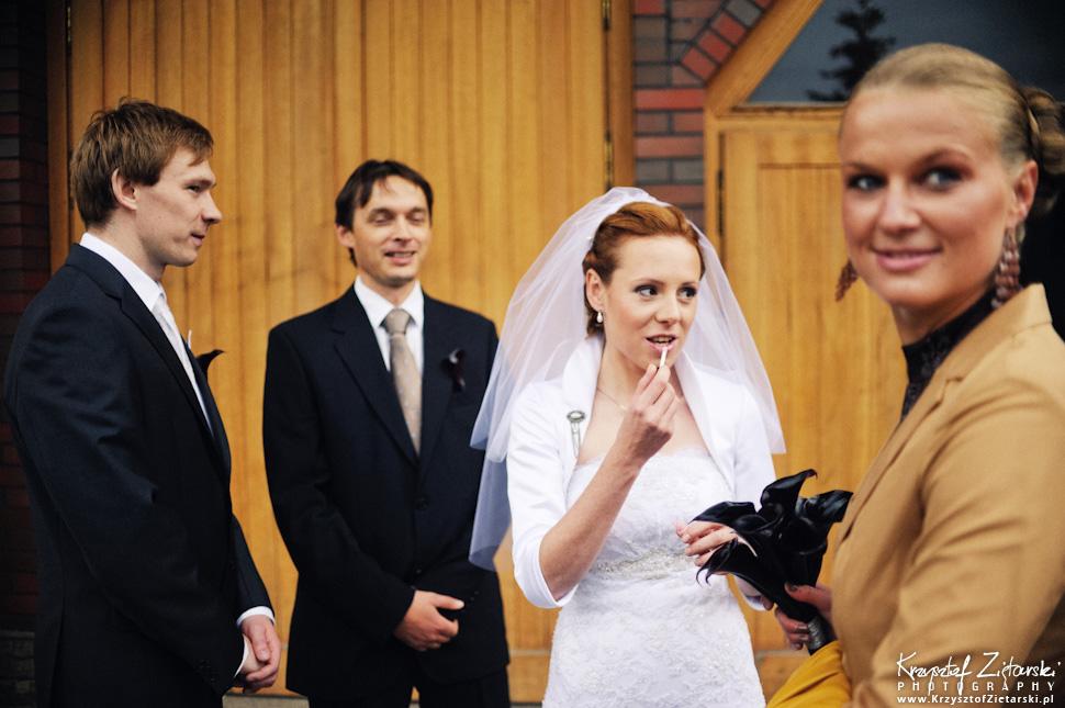 Ślub Oli i Romana - fotografia ślubna Gdańsk, wesele Chata Myśliwska Straszyn - 8.