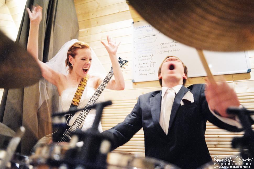 Ślub Oli i Romana - fotografia ślubna Gdańsk, sesja ślubna w studiu nagraniowym