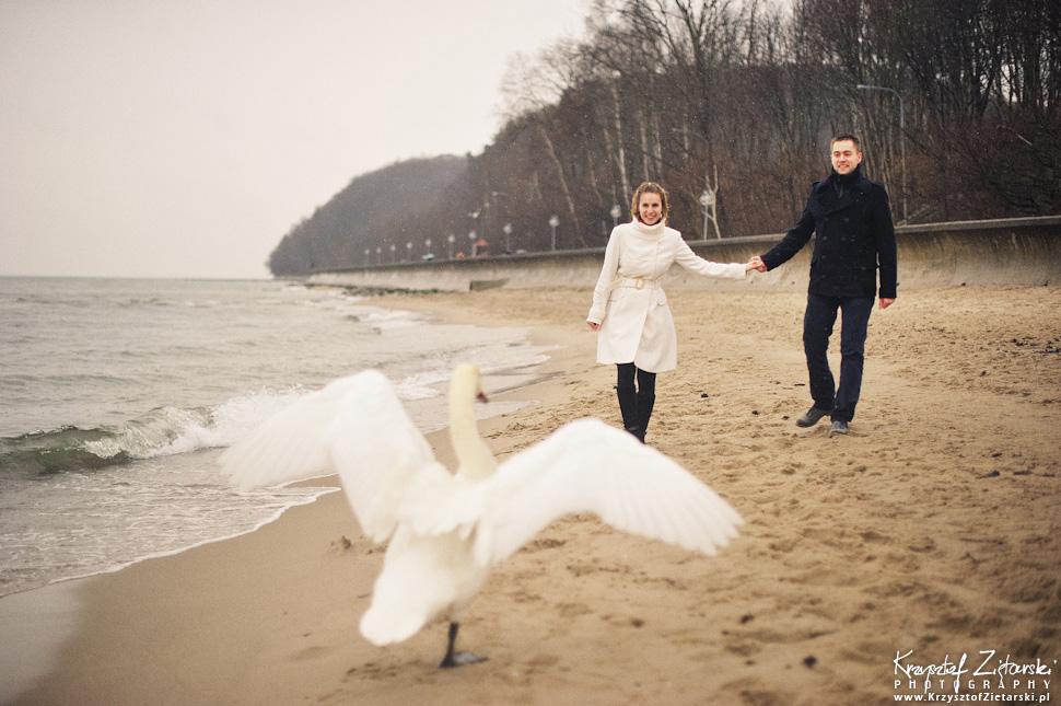 Sesja narzeczeńska Marty i Maćka w deszczu - Gdynia - 6.